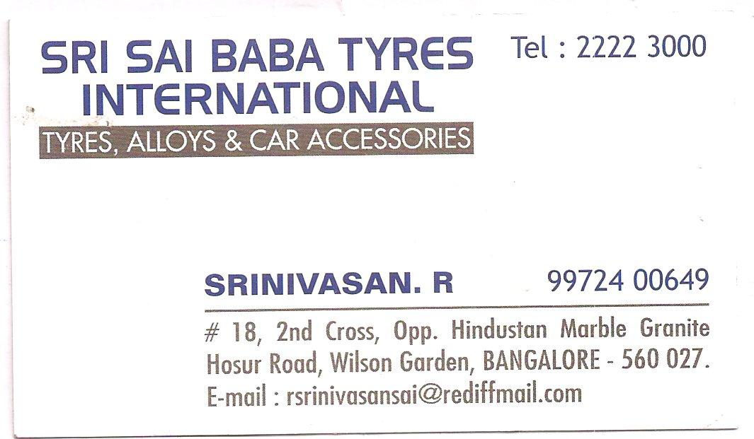 Sri Sai Baba Tyres International Tyre Dealers In Wilson